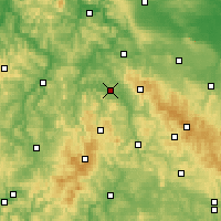 Nearby Forecast Locations - Bad Salzungen - Carte