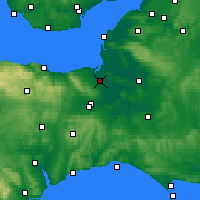 Nearby Forecast Locations - Bridgwater - Carte