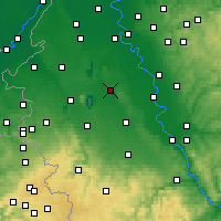 Nearby Forecast Locations - Bergheim - Carte