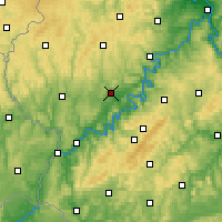 Nearby Forecast Locations - Wittlich - Carte