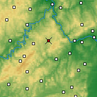 Nearby Forecast Locations - Simmern - Carte
