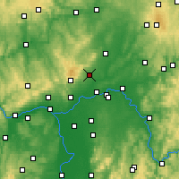 Nearby Forecast Locations - Bad Homburg vor der Höhe - Carte