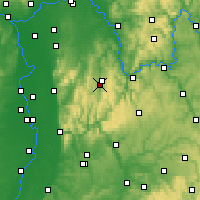 Nearby Forecast Locations - Erbach - Carte