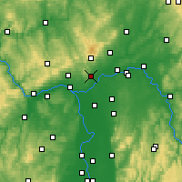 Nearby Forecast Locations - Hofheim - Carte