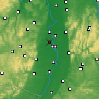 Nearby Forecast Locations - Frankenthal - Carte