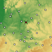 Nearby Forecast Locations - Obersulm - Carte