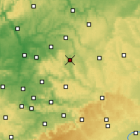 Nearby Forecast Locations - Schwäbisch Hall - Carte