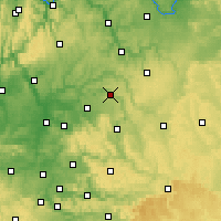Nearby Forecast Locations - Künzelsau - Carte