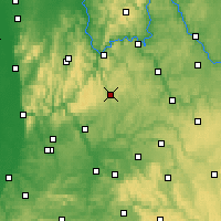 Nearby Forecast Locations - Buchen - Carte