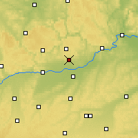 Nearby Forecast Locations - Kösching - Carte