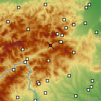 Nearby Forecast Locations - Mürzzuschlag - Carte