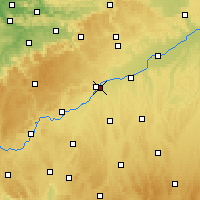 Nearby Forecast Locations - Neu-Ulm - Carte