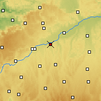 Nearby Forecast Locations - Guntzbourg - Carte