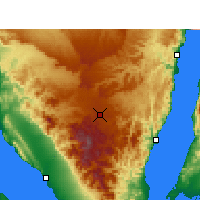 Nearby Forecast Locations - Saint Catherine - Carte