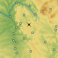 Nearby Forecast Locations - Pottenstein - Carte
