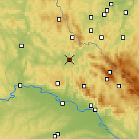 Nearby Forecast Locations - Cham - Carte
