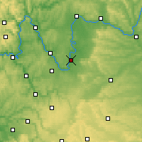 Nearby Forecast Locations - Kitzingen - Carte