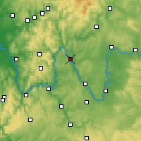 Nearby Forecast Locations - Karlstadt - Carte