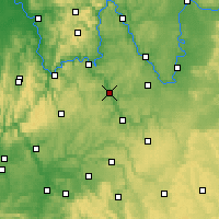 Nearby Forecast Locations - Tauberbischofsheim - Carte