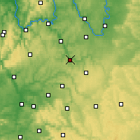 Nearby Forecast Locations - Bad Mergentheim - Carte