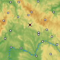 Nearby Forecast Locations - Hildburghausen - Carte