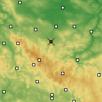 Nearby Forecast Locations - Arnstadt - Carte