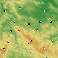 Nearby Forecast Locations - Gotha - Carte