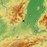 Nearby Forecast Locations - Cernay - Carte