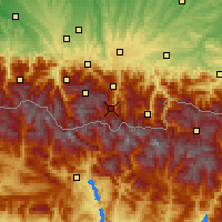 Nearby Forecast Locations - Saint-Lary-Soulan - Carte