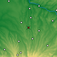 Nearby Forecast Locations - Vic-Fezensac - Carte