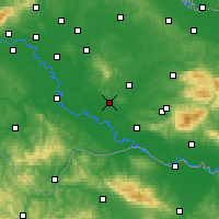 Nearby Forecast Locations - Kutina - Carte