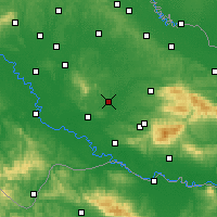 Nearby Forecast Locations - Garešnica - Carte