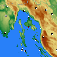 Nearby Forecast Locations - Krk - Carte