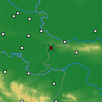 Nearby Forecast Locations - Tovarnik - Carte