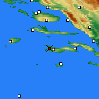 Nearby Forecast Locations - Vela Luka - Carte