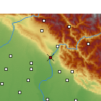 Nearby Forecast Locations - Haridwar - Carte