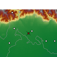 Nearby Forecast Locations - Jalpaiguri - Carte