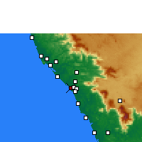 Nearby Forecast Locations - Kadirur - Carte