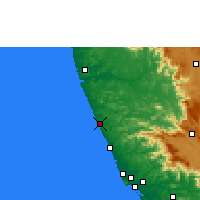 Nearby Forecast Locations - Kasaragod - Carte