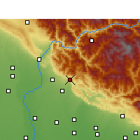 Nearby Forecast Locations - Kotdwar - Carte