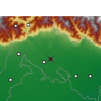 Nearby Forecast Locations - Mainaguri - Carte