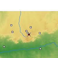 Nearby Forecast Locations - Mhow - Carte