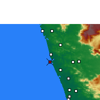 Nearby Forecast Locations - Ponnani - Carte