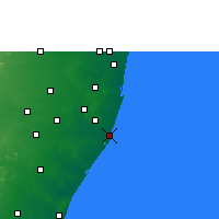 Nearby Forecast Locations - Pudupattinam - Carte