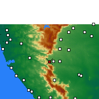 Nearby Forecast Locations - Sengottai - Carte