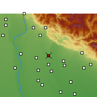 Nearby Forecast Locations - Sherkot - Carte