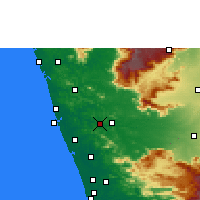 Nearby Forecast Locations - Shoranur - Carte