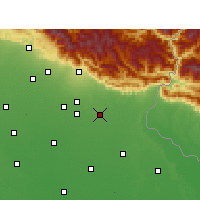 Nearby Forecast Locations - Sitarganj - Carte