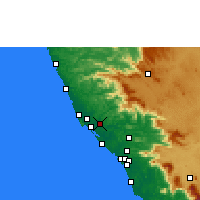 Nearby Forecast Locations - Taliparamba - Carte