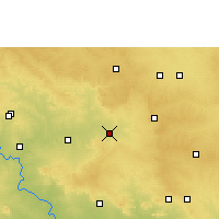 Nearby Forecast Locations - Tandur - Carte